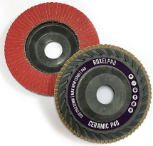 RoxelPro Лепестковый круг ROXONE 125 х 22мм, оксид алюминия, конический, Р80