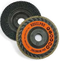 RoxelPro Лепестковый круг ROXTOP 125 х 22мм, Trimmable, цирконат, конический, Р80