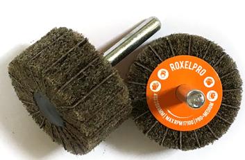 RoxelPro Лепестковая абразивная щётка ROXTOP на шпинделе 80*30*6мм, Р80