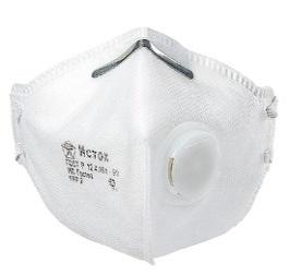 Полумаска фильтрующая складная с клапаном FFP2