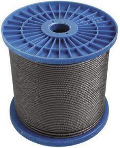 Трос стальной круглопрядный в оплетке ПВХ DIN 3055 оц (5 вн 6 нар)