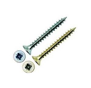 Потайная головка, Pozi, острый наконечник, белый/желтый цинк 6х60 (размер,мм)