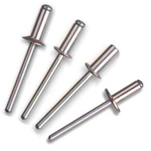 Заклепки вытяжные, комбинированные, оцинкованные (сталь/алюминий) (4,8 x 6)