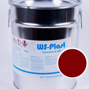 Краска WS-Plast (рубиновый), 30 кг