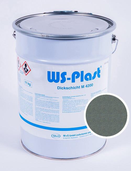 Краска WS-Plast (металлик-изумруд) 11 кг