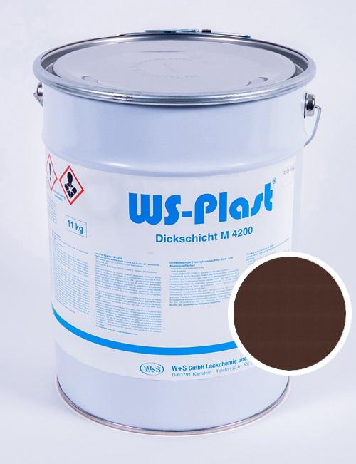 Краска WS-Plast (темно-коричневый), 11 кг