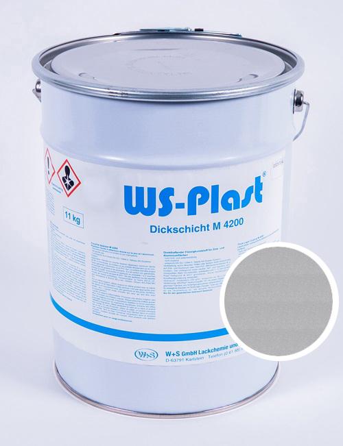 Краска WS-Plast (серебро), 11 кг