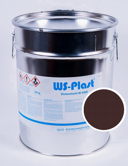 Краска WS-Plast (шоколад), 30 кг