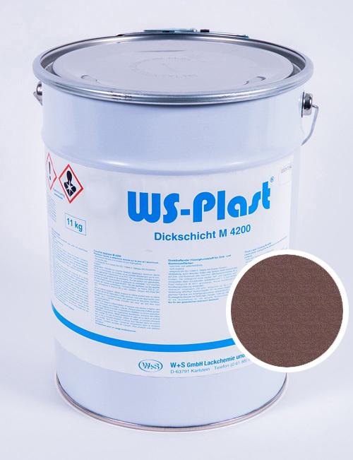 Краска WS-Plast (металлик-янтарь), 11 кг