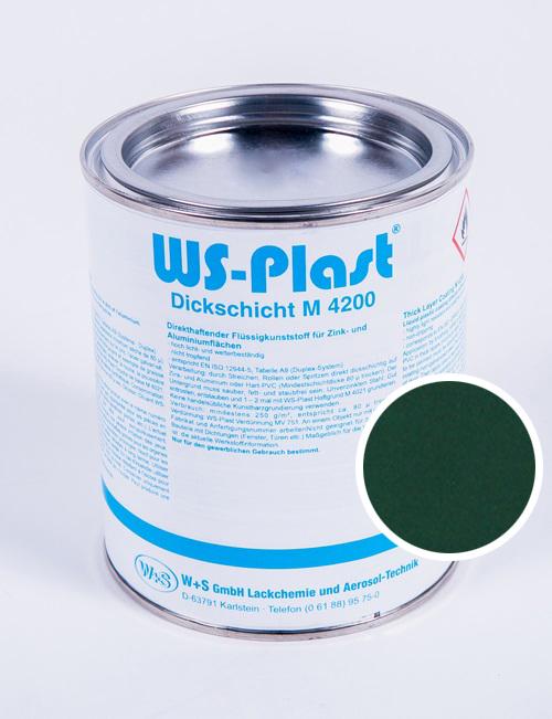 Краска WS-Plast (зеленый мох) 0,75 л