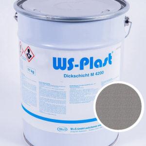 Краска WS-Plast (серый металлик), 11 кг