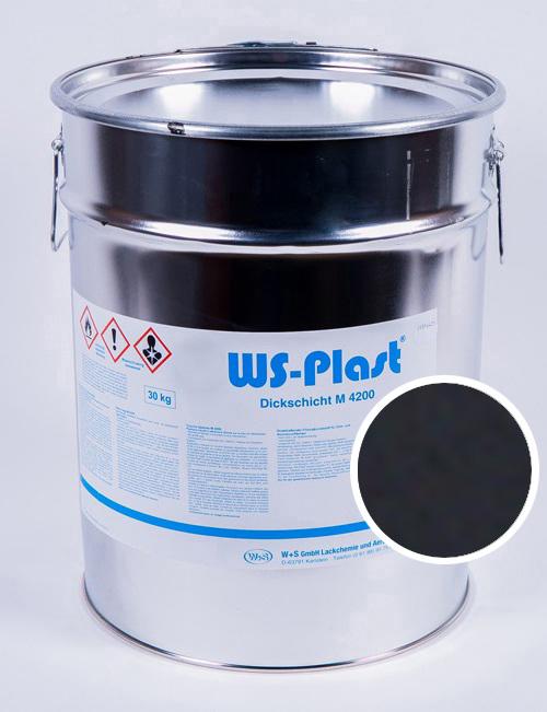 Краска WS-Plast (черный), 30 кг