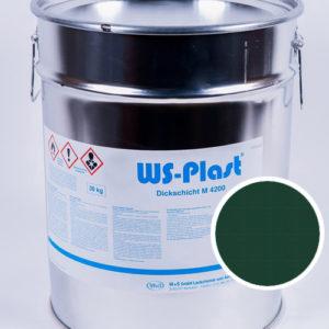 Краска WS-Plast (зеленый мох), 30 кг