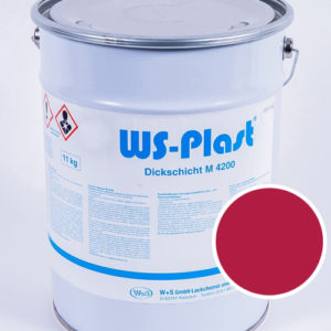 Краска WS-Plast (красная малина), 11 кг