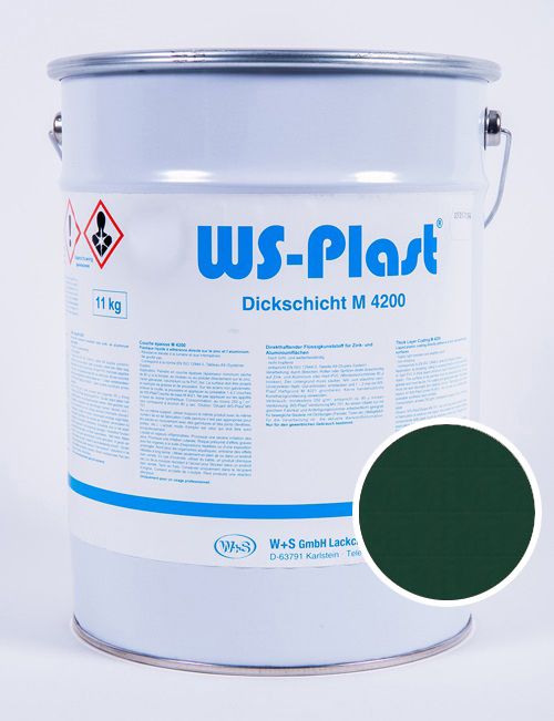 Краска WS-Plast (зеленый мох), 11 кг