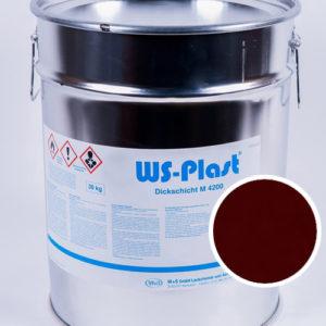 Краска WS-Plast (бордовый), 30 кг