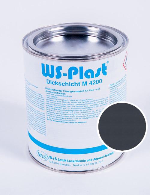 Краска WS-Plast (серый антрацит) 0,75 л