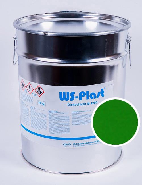 Краска WS-Plast (желто-зелёный), 30 кг