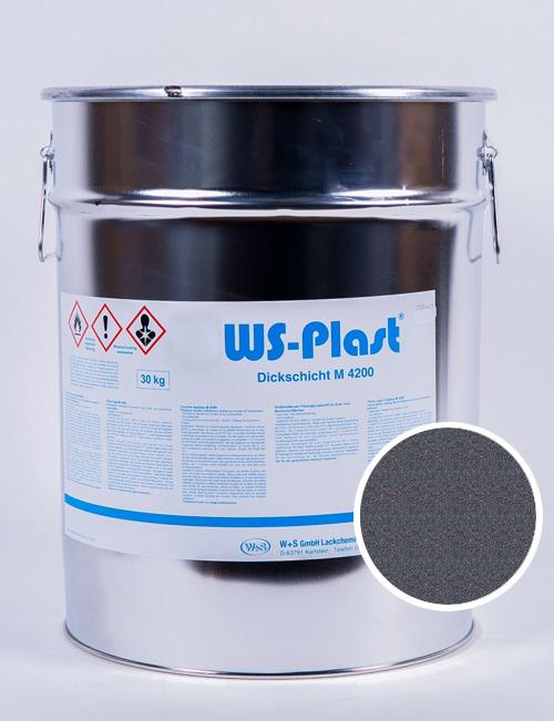 Краска WS-Plast (темный графит), 30 кг