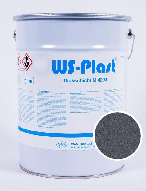 Краска WS-Plast (темный графит), 11 кг