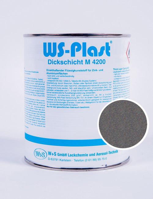 Краска WS-Plast (светлый графит) 0,75 л