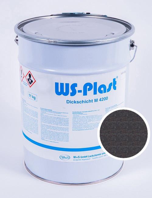 Краска WS-Plast (черный графит), 11 кг