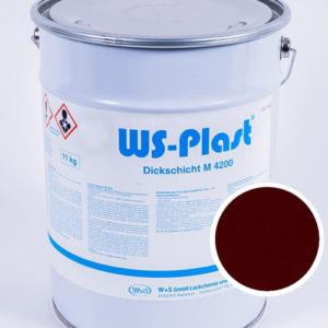 Краска WS-Plast (бордовый), 11 кг