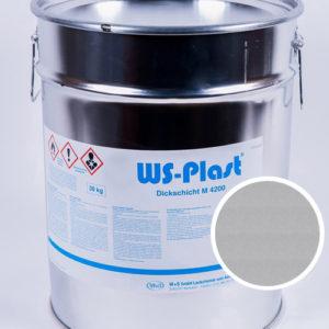Краска WS-Plast (серебро), 30 кг