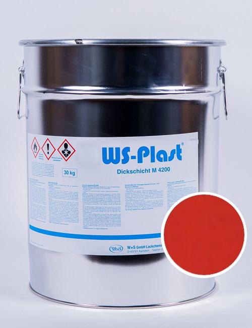 Краска WS-Plast (ярко-красный), 30 кг