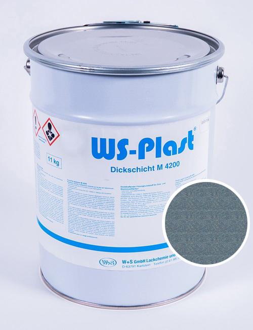 Краска WS-Plast (металлик-бирюза), 11 кг