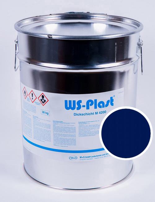 Краска WS-Plast (синий), 30 кг