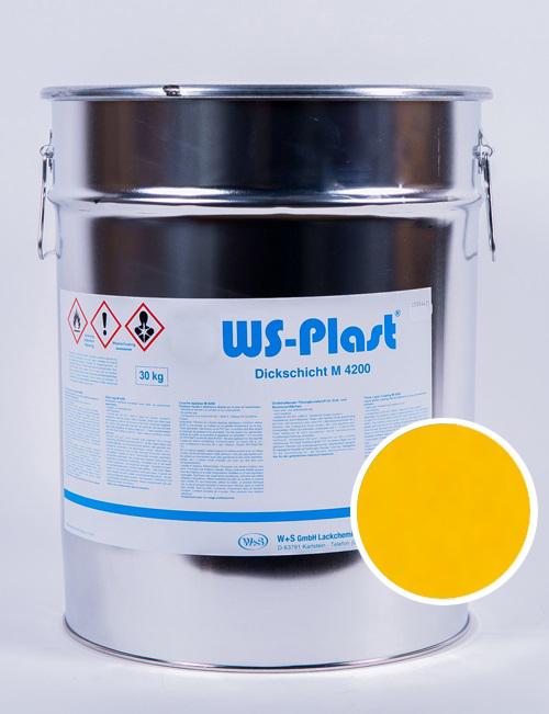 Краска WS-Plast (желтый), 30 кг