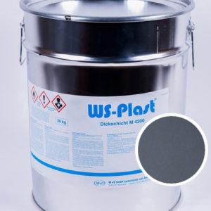 Краска WS-Plast (серый), 30 кг