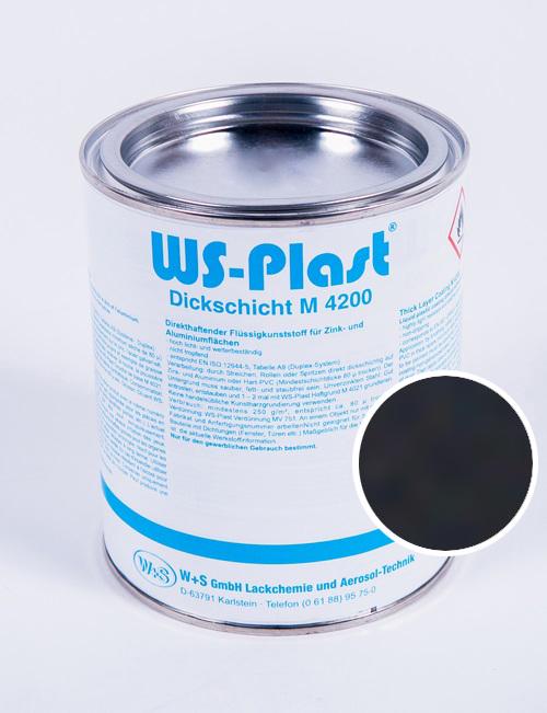 Краска WS-Plast (черный) 0,75 л