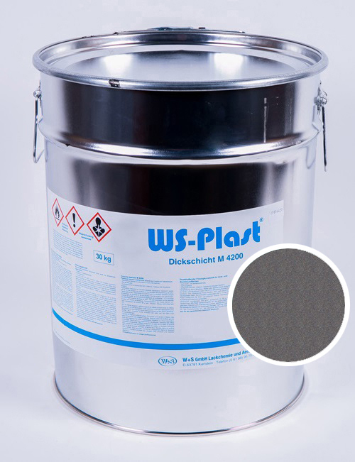 Краска WS-Plast (светлый графит), 30 кг