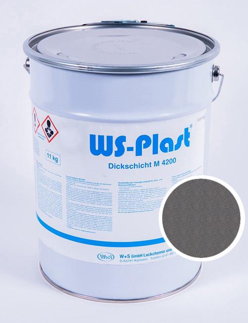Краска WS-Plast (светлый графит), 11 кг