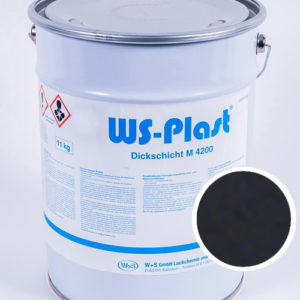 Краска WS-Plast (черный), 11 кг