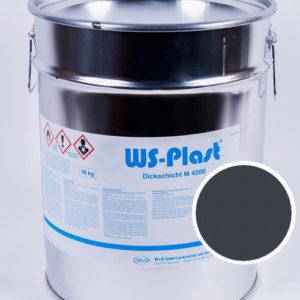 Краска WS-Plast (серый антрацит), 30 кг