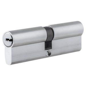 Цилиндр НОМЕ 100 мм(50*50) ЦАМ, 5 перф. ключей, верт. цвет Хром