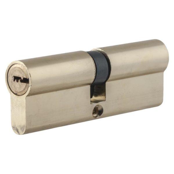 Цилиндр алюминиевый НОМЕ, 90 мм(45*45), 5 перф. ключей, верт., цвет хром
