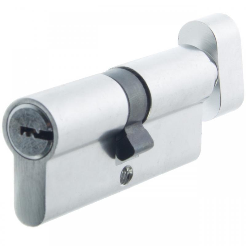 Цилиндр алюминиевый НОМЕ, 70 мм(35*35), 5 перф. ключей, верт., цвет хром