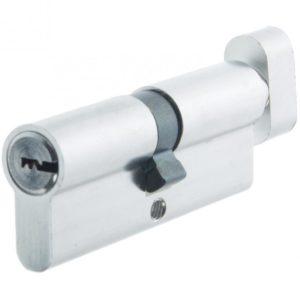 Цилиндр алюминиевый НОМЕ, 80 мм(40*40), 5 перф. ключей, верт., цвет хром