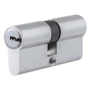Цилиндр НОМЕ 70 мм(35*35) ЦАМ, 5 перф. ключей, верт. цвет Хром