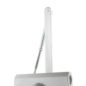 Доводчик морозостойкий НОМЕ DC-65 с фиксатором (серебро)