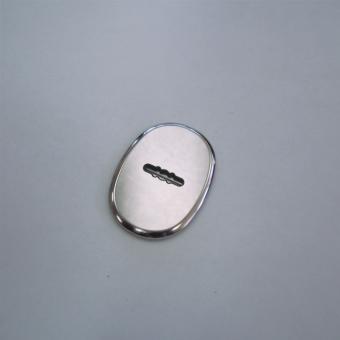 Накладка малая овальная сувальда автошторка МОН-СА хром (55×75)
