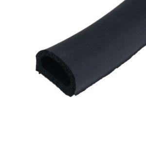 Уплотнитель с/к НОМЕ D-профиль 10х12 мм, цвет черный, 150 пм/катушка