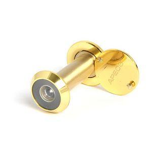 Глазок дверной НОМЕ 70-90 мм, 200 град., материал ПЛАСТИК, цвет золото