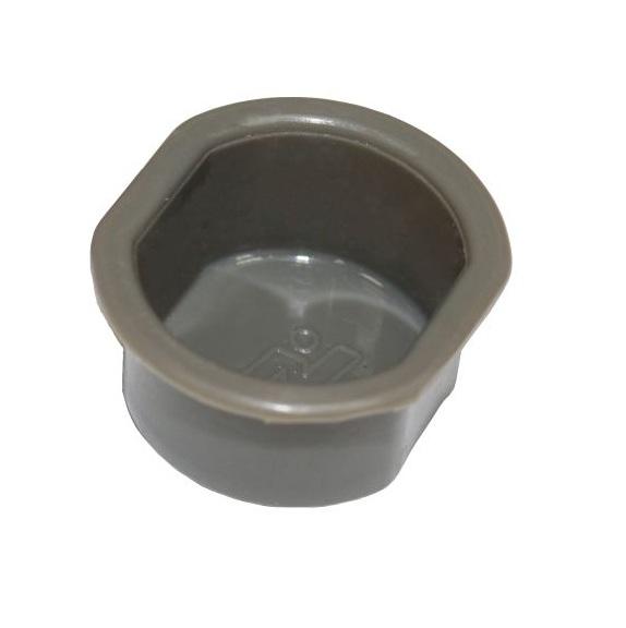 Заглушка под противосъем 30-27мм овальная, белая, серая, черная, коричневая