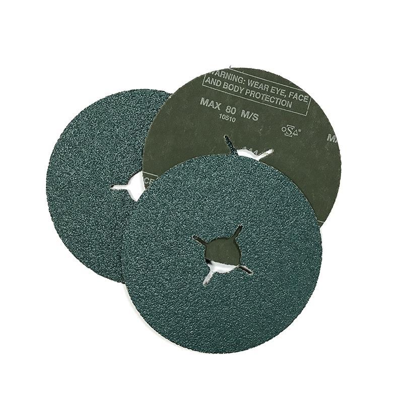 Фибровый шлифовальный круг 125х22мм, цирконат