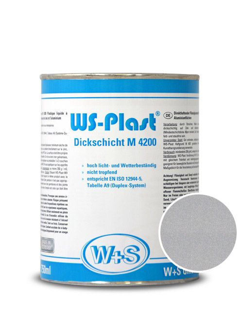 0004 Краска акриловая WS-Plast  0004 (0,75л) серебро